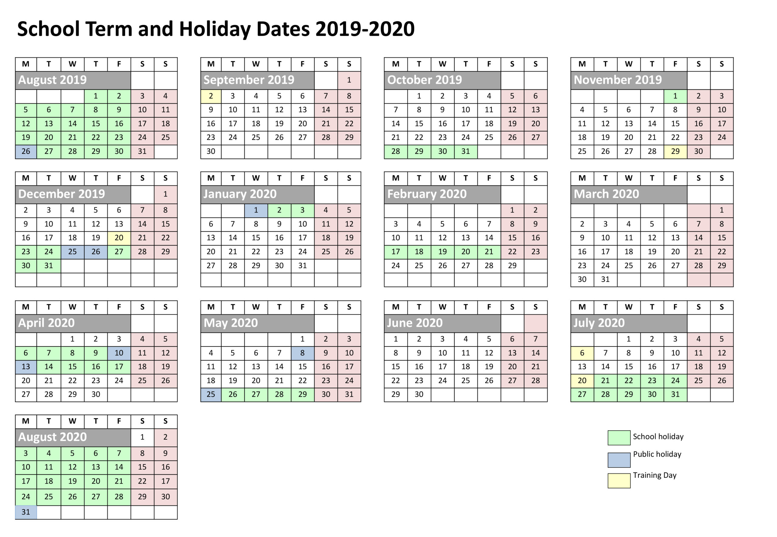 School-Term-Holiday-Dates-2019